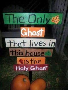 religious halloween decoration or sign sho nuff