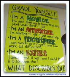 Grade Yourself: Novice, Apprentice, Practitioner, Expert ~~ OurArtsLately via RainbowsWithinReach