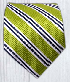 Bar Stripes - Lime || Ties - Wear Your Good Tie. Every Day - Bar Stripes - Lime Ties