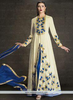 Beige Designer Anarkali Suit For Wedding Wear