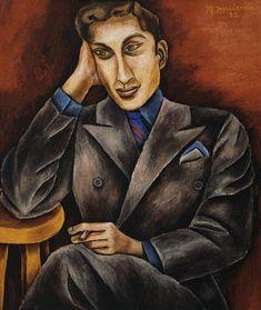 María Izquierdo  (1902 - 1955)  Retrato de Juan Soriano , 1939  Oleo / tela 69 x 59 cm