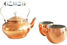 Brass Tea Set, 3 Pcs.