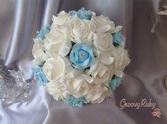 Baby Blue, Bouquet, Wedding Ideas, Artificial Wedding Flowers, Bride, Bridesmaid