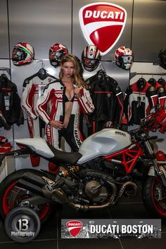 Ducati Monster 821 at Ducati Boston! Riverside Motorsports! Model: Kami Lee