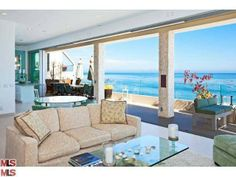 26520 Latigo Shore Dr, Malibu, CA 90265 — Elevated safely above the 61 feet of dry sand below, and on it's own slice of private road, sits this three story timeless contemporary masterpiece. An extensive remodel was recently completed, with use of only the finest materials. From the moment you step foot into this showplace, it's impossible to forget where you are. All rooms are beach front. The views are exceptional from every angle, due in large part to the walls of disappearing glass, and…