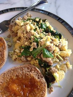 Beg, Borrow and Meal: Turkey Meatball and Spinach Scramble