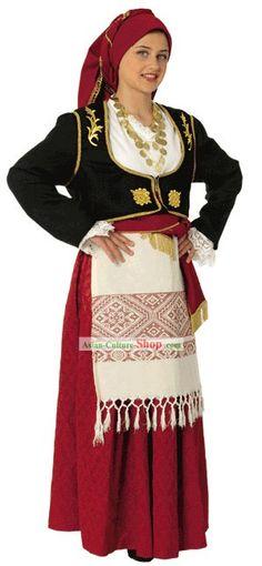 50f211228e14 Cretan Female Traditional Greek Dance Costume Κρήτη