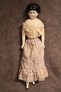 17-China-low-brow-turned-head-antique-doll-Estate-Sale-Lot-246