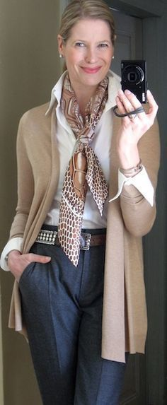Great casual professional look for a woman of any age or size