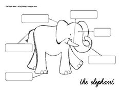 FREE........Label the Elephant.Also included is a have, can, are chart....