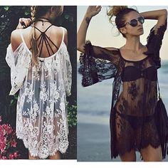 Lace Boho Style Summer Beach Dress