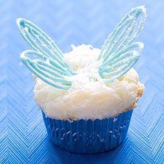 Angel wing cupcakes- Pi Phi angels #piphi #pibetaphi