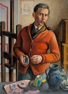 'Autoportrait à la pipe' (1925) by French painter Henry Meylan (1895-1980). via Tacoma Blue