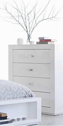 White Bedroom Furniture Nz summit white gloss tallboystoke furniture | harvey norman new