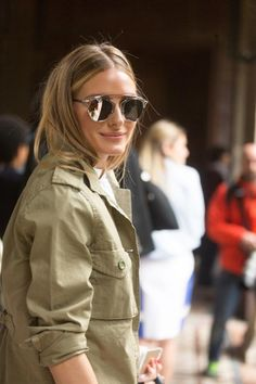 So real Olivia Palermo is rocking our silver sunnies. Get yours at www.StyleRepertoire.com/shop