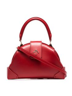 1d4d7a9b1115 Red Demi Top Handle Leather Shoulder Bag - Red - MANU Atelier Shoulder bags
