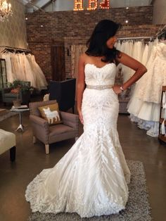 Matthew Christopher Sofia, $1,800 Size: 10 | Used Twice Wedding Dresses