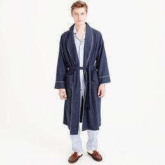 JCrew Heathered Flannel Bathrobe (men's) - size S/M
