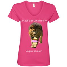 Hoping this new Joseph Lion Loves... inspires you. Check it out! http://catrescue.myshopify.com/products/joseph-lion-loves-ice-cream-ladies-v-neck-tee?utm_campaign=social_autopilot&utm_source=pin&utm_medium=pin