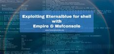 In this tutorial we will be exploiting a SMB vulnerability using Eternalblue. Eternalblue exploits a remote code execution vulnerability in SMBv1.