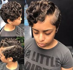 Fresh curls by - Black Hair Information Natural Hair Short Cuts, Short Sassy Hair, Short Hair Cuts, Natural Hair Styles, Pixie Cuts, Straight Hairstyles, Cool Hairstyles, Layered Hairstyles, Vintage Hairstyles