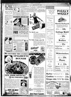 Piggly Wiggly ad 1920's