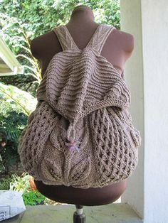 Knit a backpack! It looks great! I must try making one!
