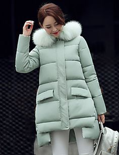 Hosszú ujj Utcai sikk Női Sportos kabátok Kabát,Poliészter
