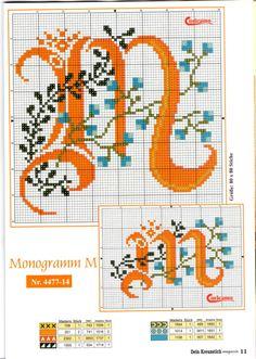 ru / Фото - - tymannost by alba Monogram Cross Stitch, Cross Stitch Alphabet Patterns, Embroidery Alphabet, Cross Stitch Borders, Cross Stitch Baby, Cross Stitch Samplers, Cross Stitch Charts, Cross Stitch Designs, Cross Stitching