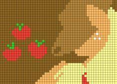 Applejack By MegaSweet Perler Bead Pattern / Bead Sprite Pony Bead Patterns, Pearler Bead Patterns, Kandi Patterns, Perler Patterns, Beading Patterns, Cross Stitch Patterns, My Little Pony Blanket, Pixel Art Templates, Little Poni