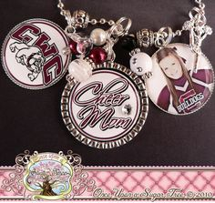 Cheer Mom Jewelry | CHEER MOM Necklace- Triple Pendant-Fully Customizable Team Name ...