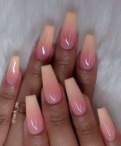 35 Best Ideas For Your Ombre Nails In Summer - Nail Art Connect - - 35 Best Ideas For Your Ombre Nails In Summer – Nail Art Connect Nails 35 besten Ideen für Ihre Ombre-Nägel im Sommer – Nail Art Connect Best Acrylic Nails, Acrylic Nail Designs, Nail Art Designs, Simple Acrylic Nails, Ombre Nail Designs, Diy Nails, Cute Nails, Nail Nail, Ombre Nail Polish