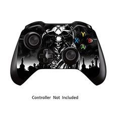 Skins Stickers for Xbox One Games Controller - Custom Orginal Xbox 1 Remote Controller Wired Wireless Protective Vinyl Decals Covers - Leather Texture Protector Accessories - Reaper Black Xbox One Games List, Video Games Xbox, Xbox Games, Xbox One Bundle, Xbox One Black, Xbox One Console, Xbox One Controller, Leather Texture, Room Accessories