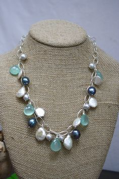 modern pearl jewelrymodern pearlscoin by SbCollectionsJewelry, $88.00