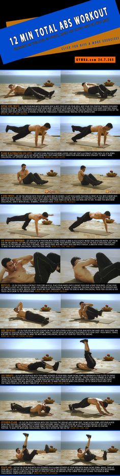 Killer Abs Workout. Tone  strengthen your #abs  core. Click the image to see the moves in GIF form. #fitness #exercise #workout #weightloss #health