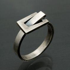 Sterling Belt Buckle Ring by JenLawlerDesigns on Etsy, $95.00