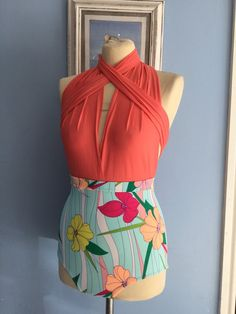 Stunning multiway infinity/swimsuit/coral by Adressbybetsy on Etsy