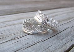Sterling Silver Crown Ring on Etsy, $35.00