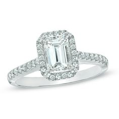 Classic and elegant certified emerald-cut engagement ring.
