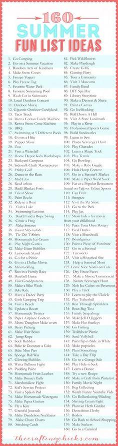 160 Summer Fun List IdeasAQUA