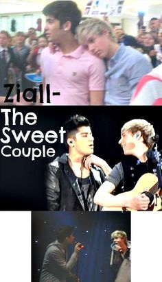 my all time one true pairing, zayn and niall ziall! i'm obessesd. i think its because i live vicariously through niall kuz hes blonde and i just want zayn all up on my face!:)