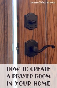 Creating a prayer room is a great way to find a place to meet with God in your home. Here are some practical steps and scripture about prayer closets!