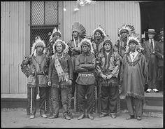 Big Passamaquoddy tribe here on way to Plymouth Tercentenary