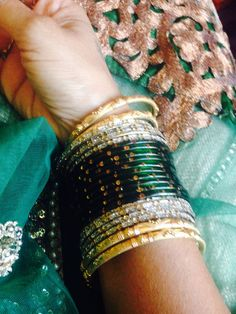 Greeny Gold Bangles