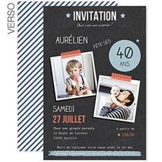 Pop 40 ans : invitation anniversaire personnalisable #anniversaire #invitation