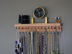 Necklace Hanger with shelf by BlackForestCottage on Etsy, $29.00