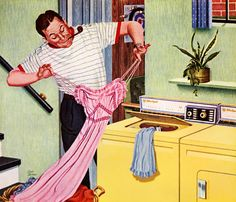 """""""Anybody can wash anything in an RCA WHIRLPOOL"""" 1959 Ad"""