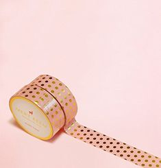 Pink with Polka Dots in Gold Foil Washi Tape for Planning • Scrapbooking • Arts Crafts • Office • Party Supplies • Gift Wrapping • Colorful Decorative • Masking Tapes • DIY