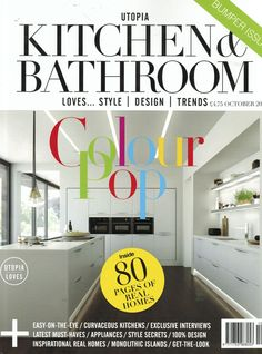 Utopia Kitchen & Bathroom features the Bloc Blinds Fabric Changer in their October Issue.. #blocblinds #rollerblinds #fabricchanger #blinds www.blocblinds.co.uk