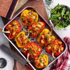 Healthy lunch recipes – Slimming World Roasted stuffed peppers Slimming World Lunch Ideas, Slimming World Recipes, Healthy Cooking, Healthy Eating, Healthy Food, Lunch Recipes, Healthy Recipes, Lunch Meals, Lunches